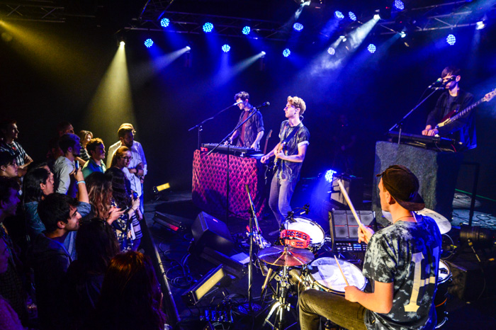 Glass Animals play with instruments in addition to drum pads, and keyboards filled with pre-recorded sounds.